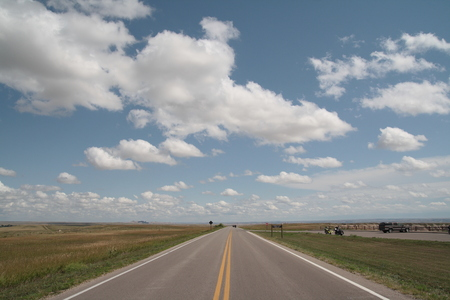 Straight empty road or wallpaper, lead to nowhere. Stock Photo - 96113606
