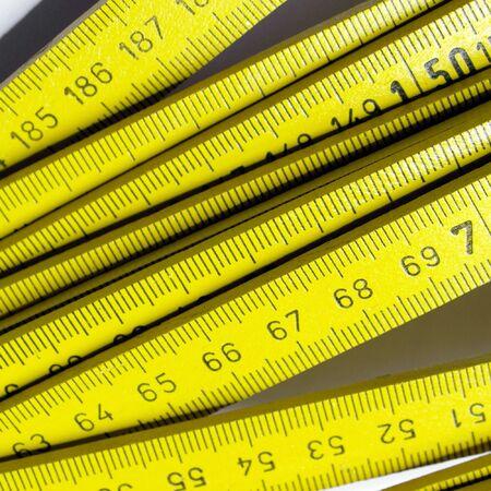 wooden metre: Carpenters ruler