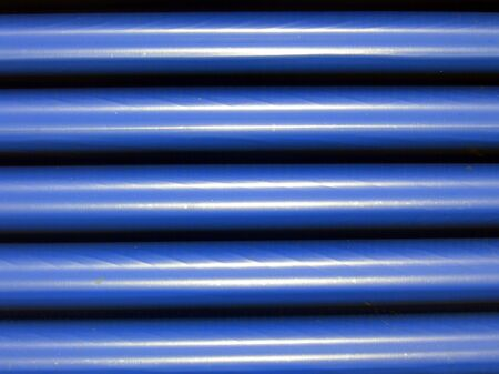 Blue corrugated steel background Stock Photo - 5376639