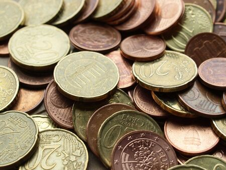 Range of Euro coins useful as a background Stock Photo - 5376528
