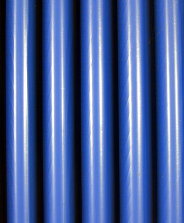 Blue corrugated steel background Stock Photo - 5376917