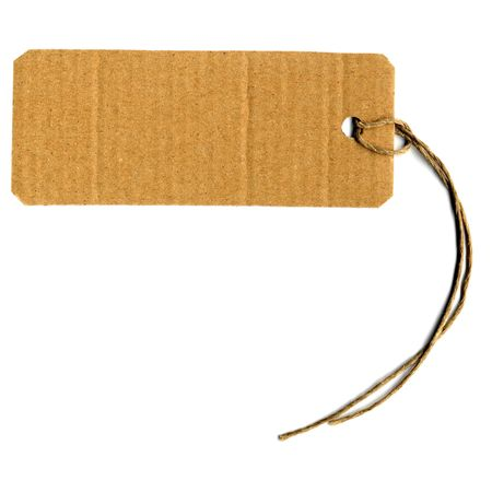merchandize: Price tag or address label with string