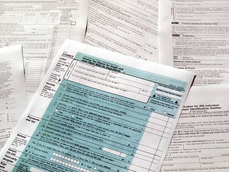 Range of various blank USA tax forms photo