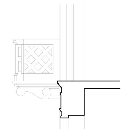 neoclassical: Architectural detail of an ancient old neoclassical balcony