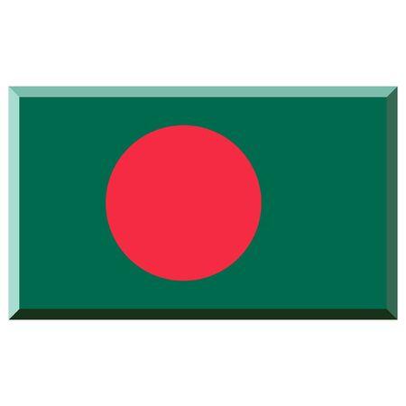 Flag of Bangladesh with 3D border photo