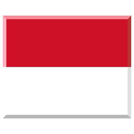 Flag of Monaco with 3D border photo