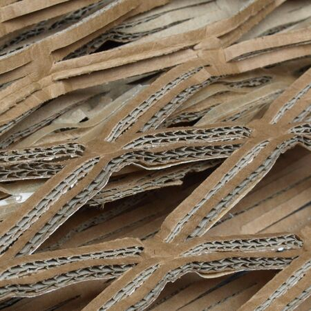 Brown corrugated cardboard used as packaging Stock Photo - 6563769