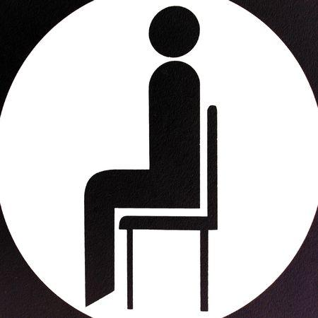 sitting area: Sitting area sign Stock Photo