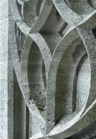 Detail of Ulm Minster gothic church in Ulm, Germany - with goth web photo