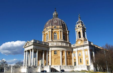 The baroque Basilica di Superga church on the Turin hill, Italy
