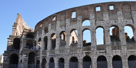 The Colosseum or Coliseum (Colosseo) in Rome photo