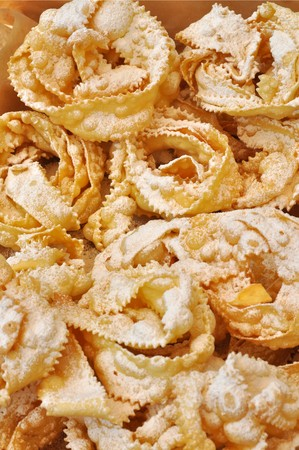 crostoli: Bugie Chiacchere - Italian carnival food from Naples Stock Photo