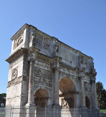 constantine: The Arch of Constantine (Arco di Costantino), Rome, Italy
