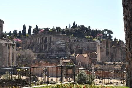 Ruins of the Roman Forum (Foro Romano) in Rome, Italy photo