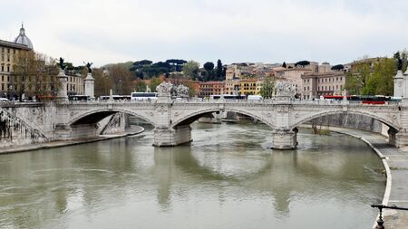 View of the city of Rome, Italy photo