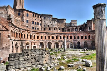 Trajan Market (Mercati Traianei) in Rome, Italy - high dynamic range HDR Stock Photo