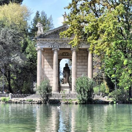 Villa Borghese Pinciana, Pincian Hill, Rome, Italy - high dynamic range HDR photo