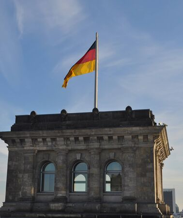 The national German flag of Germany (DE) photo