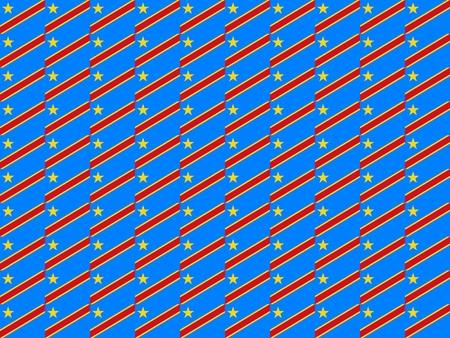 democratic republic of the congo: Seamless tiled flag illustration useful as background - Democratic Republic Congo