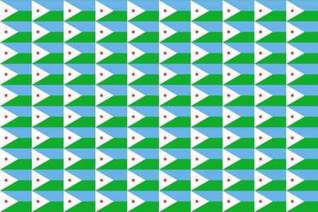 djibouti: Seamless tiled flag illustration useful as background - Djibouti