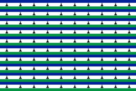 lesotho: Seamless tiled flag illustration useful as background - Lesotho