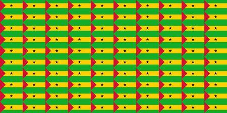 principe: Bandera de mosaico perfecta ilustraci�n �til como fondo - Santo Tom� y Pr�ncipe