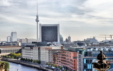 View of the city of Berlin in Germany - high dynamic range HDR