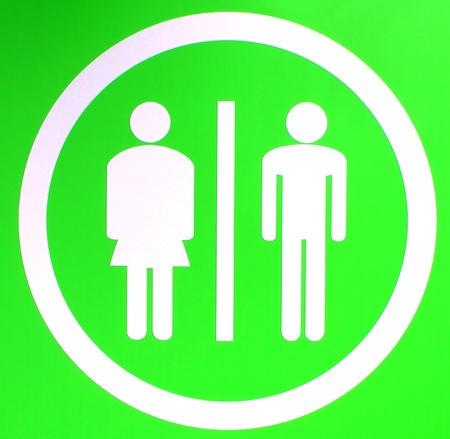 gents: A toilet sign for ladies and gents Stock Photo