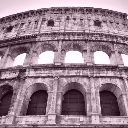 The Colosseum or Coliseum (Colosseo) in Rome - high dynamic range HDR photo