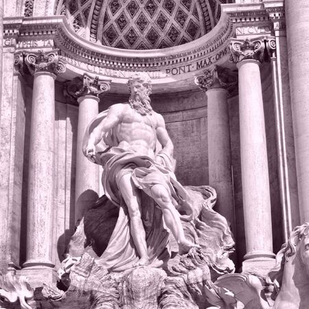 Baroque Trevi Fountain (Fontana di Trevi) in Rome, Italy - high dynamic range HDR photo
