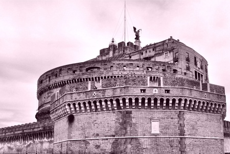 The Castel Sant Angelo Mausoleum of Adrian, Rome, Italy - high dynamic range HDR photo