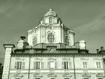 The church of San Lorenzo, Turin, Italy - high dynamic range HDR photo