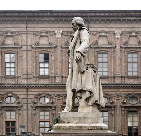 publicist: Statue of Vincenzo Gioberti - famous Italian philosopher politician and publicist - in Piazza Carignano, Turin