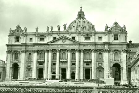 Basilica church of Saint Peter (San Pietro), Rome, Italy - high dynamic range HDR photo