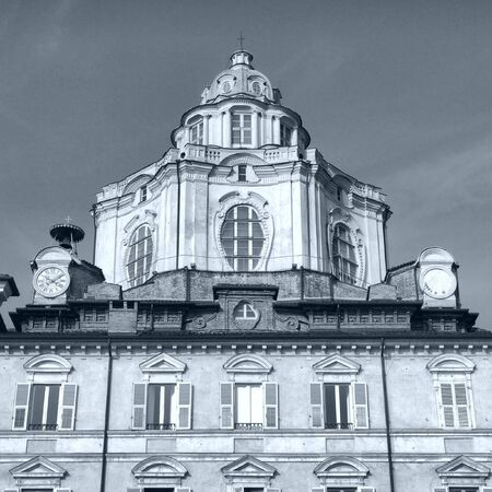 La Iglesia de San Lorenzo, en Turín, Italia  Foto de archivo - 9217592