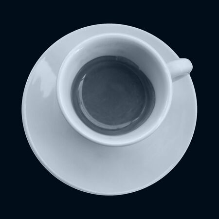 bar ware: Coffee cup isolated on black background Stock Photo