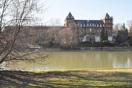 Castello del Valentino castle in Turin Italy