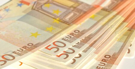 Euro banknote (currency of the European Union) - selective focus photo