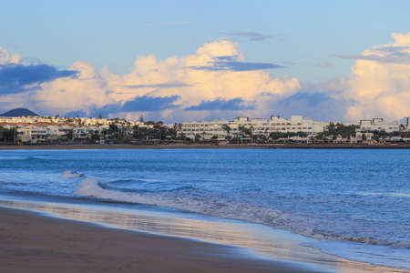 Lanzarote beach, a Spanish island on the Canary Islands in the Atlantic Ocean off the coast of Africa Stock Photo - 27778989