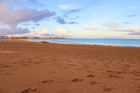 Lanzarote beach, a Spanish island on the Canary Islands in the Atlantic Ocean off the coast of Africa Stock Photo - 27779013