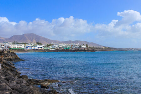 Lanzarote beach, a Spanish island on the Canary Islands in the Atlantic Ocean off the coast of Africa Stock Photo - 28799055