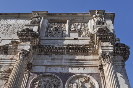 constantine: Arco di Costantino meaning Arch of Constantine in Rome Italy