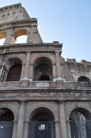 The Colosseum aka Coliseum or Colosseo in Rome Italy photo