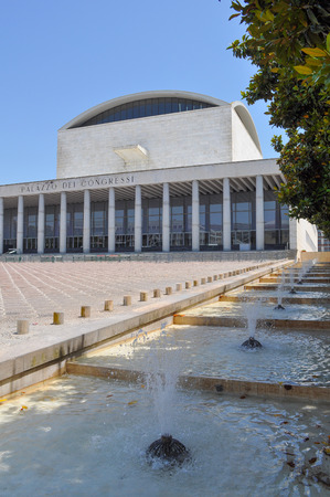 conference centre: ROME, ITALY - JUNE 23, 2014: Palazzo dei Congressi meaning Conference Centre
