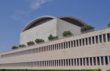 rationalism: ROME, ITALY - JUNE 23, 2014: Palazzo dei Congressi meaning Conference Centre