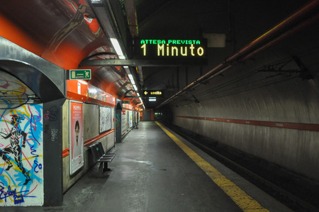 Spagna: ROME, ITALY - JUNE 24, 2014: Spagna subway station Editorial