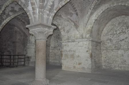 st michel: MONT SAINT MICHEL, FRANCE - JUNE 04, 2014: Mont Saint Michel Abbey and fortifications in Normandy France