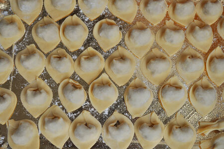 Traditional Italian agnolotti dumpling pasta from the Piedmont region photo