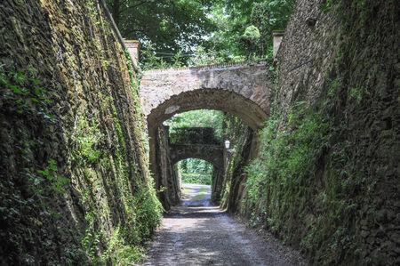 Castello del Roccolo castle in South Piedmont Italy Editorial