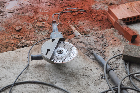 Work tools in a building site